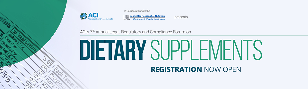 Dietary Supplements - Legal, Regulatory, and Compliance